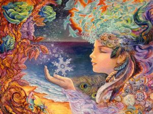 "Birthday Card ""Snow Flake"" Birthday Greetings Card by Josephine Wall"